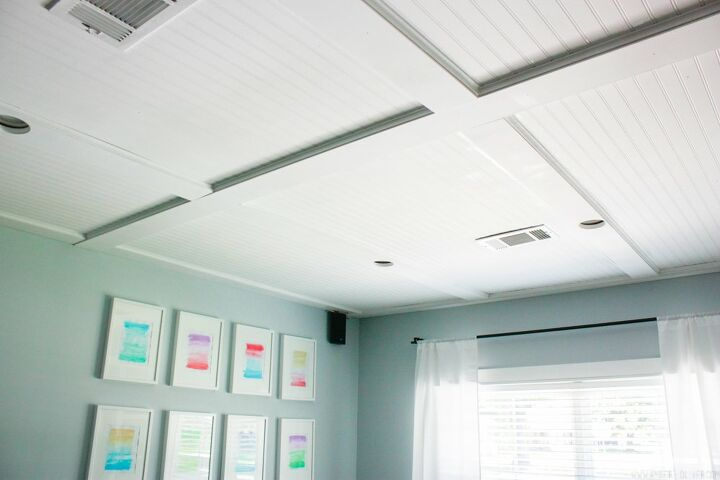 s weekenddiy 15 easy awesome projects you can do this weekend, Add a ceiling accent to make any room unique