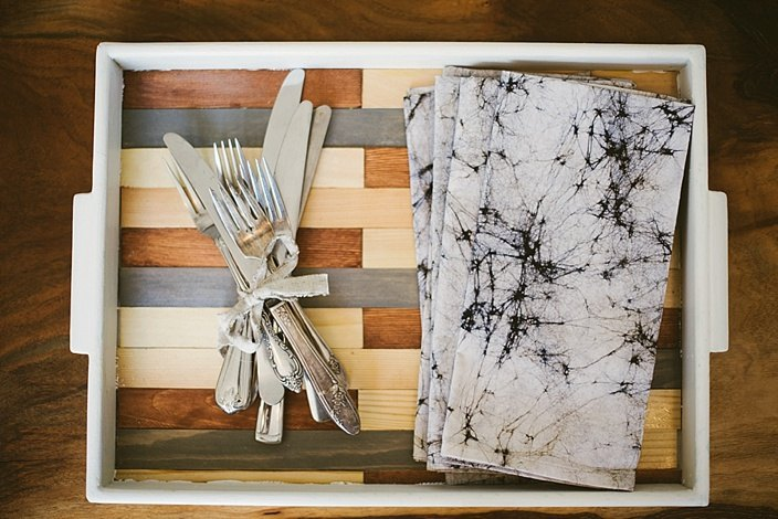 s 22 ways a little bit of wood goes a long way inside your home and out, A modern inlayed wood tray for easy entertaining