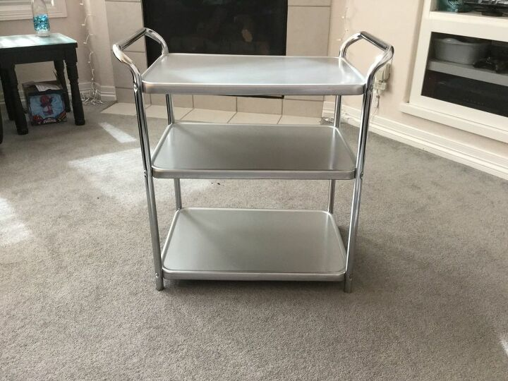 upcycled 3 tiered serving tray