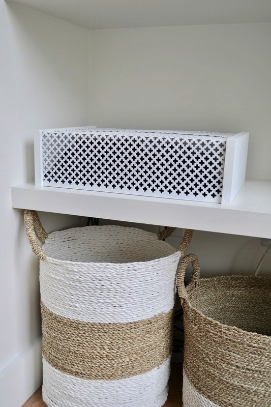 s 12 creative ways to hide your ugliest eyesores, Hide any ugly electronics or cable box with this genius idea