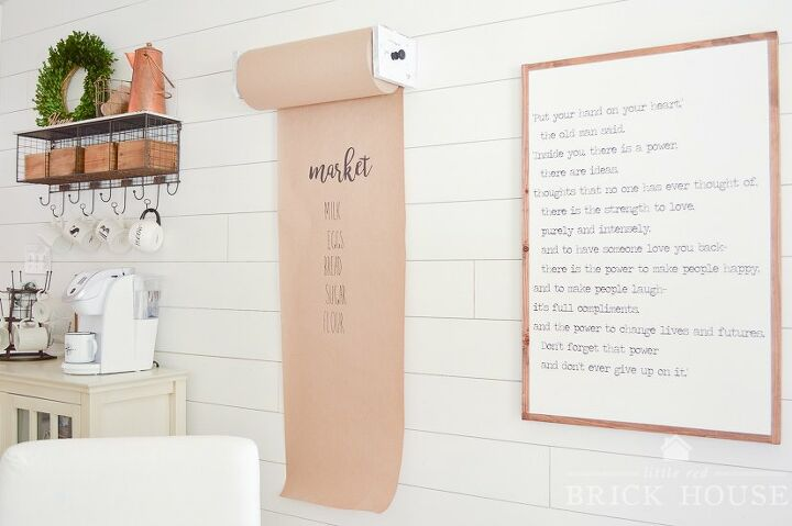 s 15 ways unexpected items are making these walls really stand out, A butcher paper grocery list for your kitchen