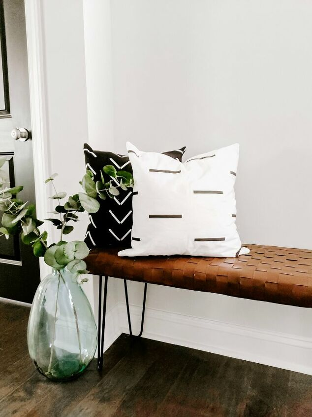 s 19 fabulous ways to add extra seating to your home, DIY Woven Leather Bench