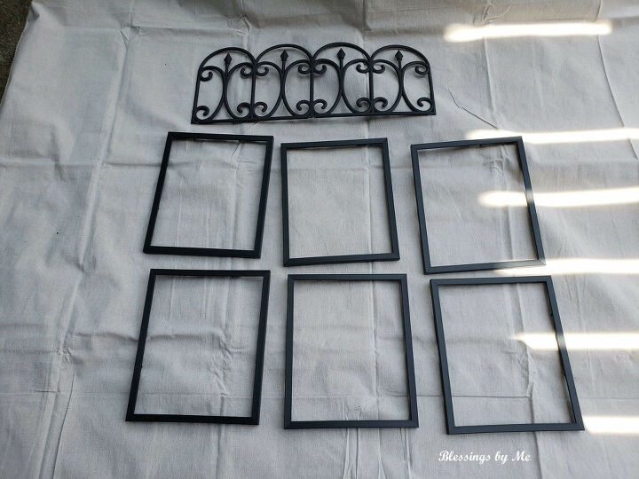 farmhouse window dollar tree diy