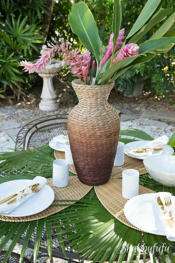 s 17 reasons why this wicker trend isn t going anywhere, Old Ceiling Fan Placemat Project