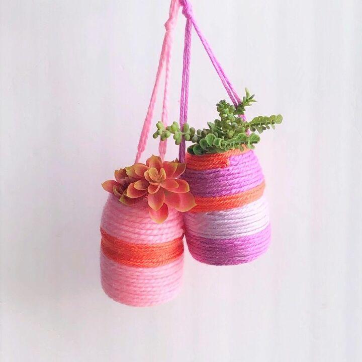 hanging succulent baskets