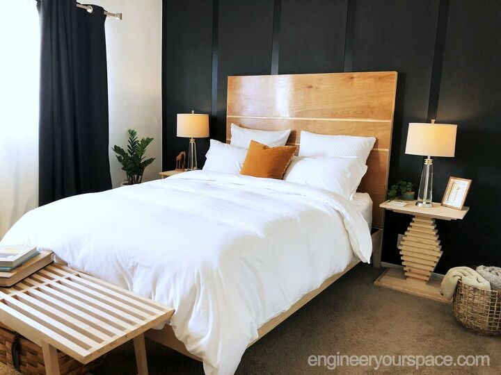 color inspiration black bedroom feature wall without painting the wall