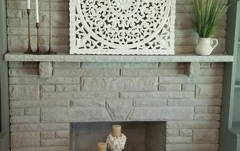 Update Your Fireplace With Whitewash