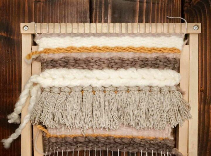 easy diy weaved wall hanging