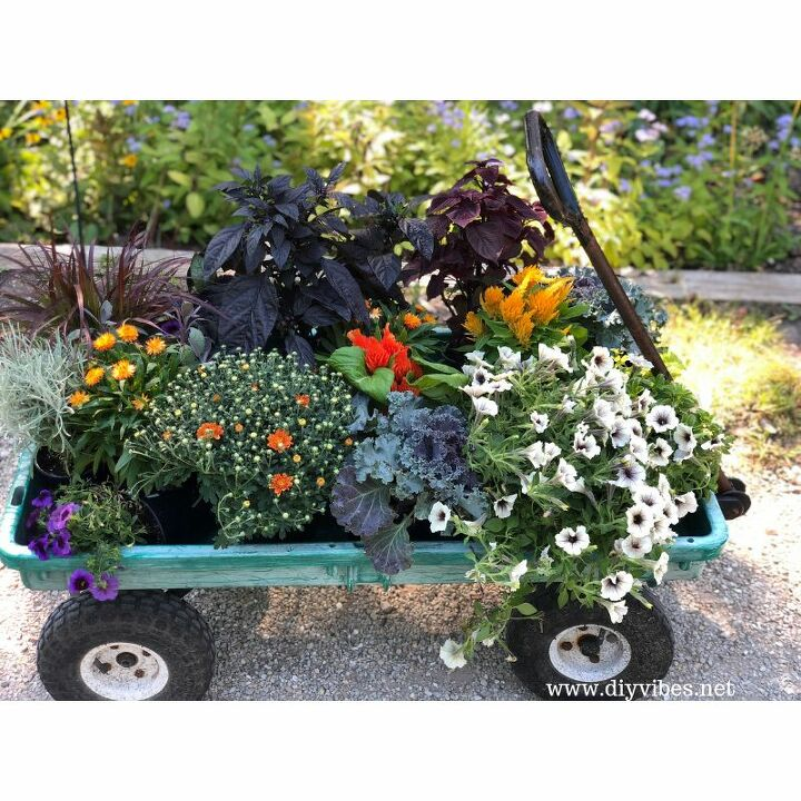 how to create fall outdoor planters