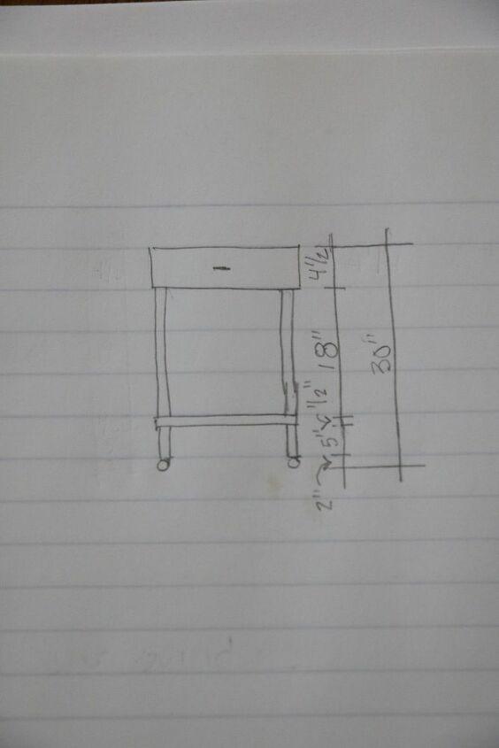 bar cart diy using a dresser drawer