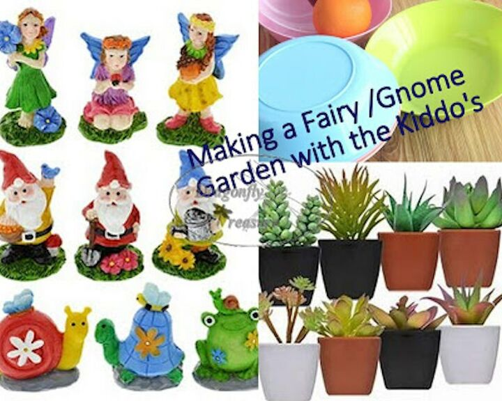 making fairy gnome gardens with little ones