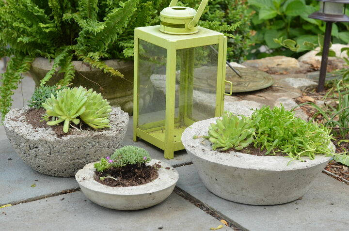 s hop on the concrete band wagon with these 14 adorable ideas, Good for indoors or out these concrete planters are easy to make