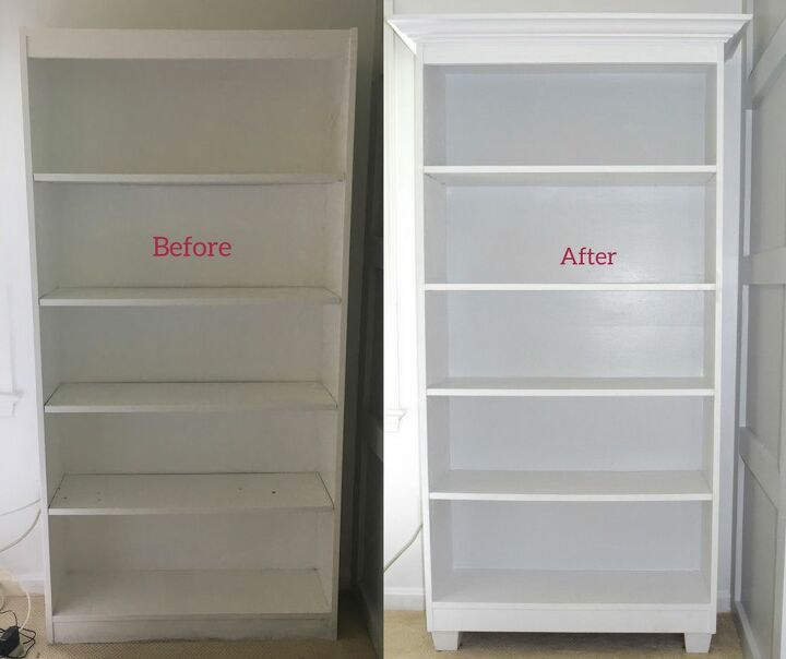 create an expensive looking bookcase in just a few steps