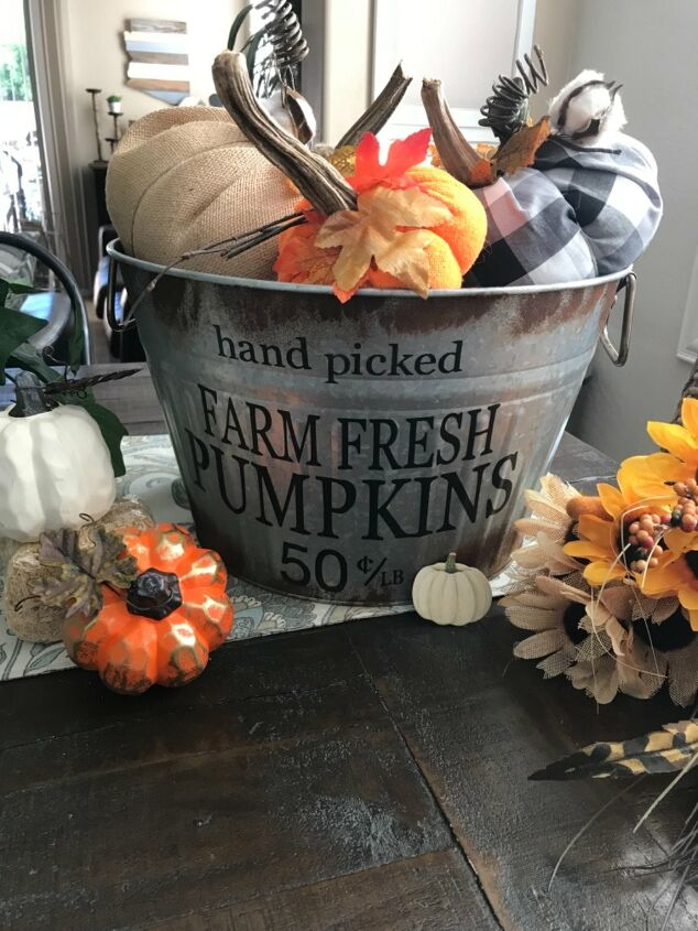 s 12 new fall porch decor ideas, Here s how to age your shiny new buckets to get the galvanized look for fall