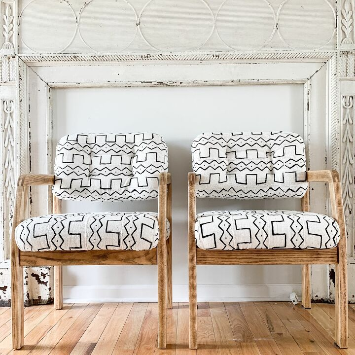s 19 fabulous ways to add extra seating to your home, Reupholster with mud cloth