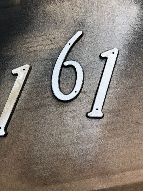 how to create a house number planter box from a thrift store find