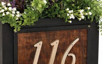 Create a House Number Planter Box From a Thrift Store Find!