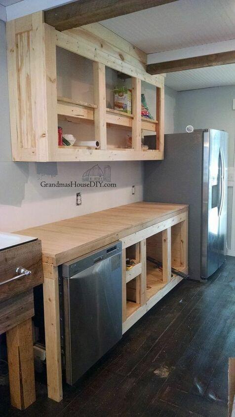 diy farmhouse kitchen reveal a bigger closet and a bigger kitchen