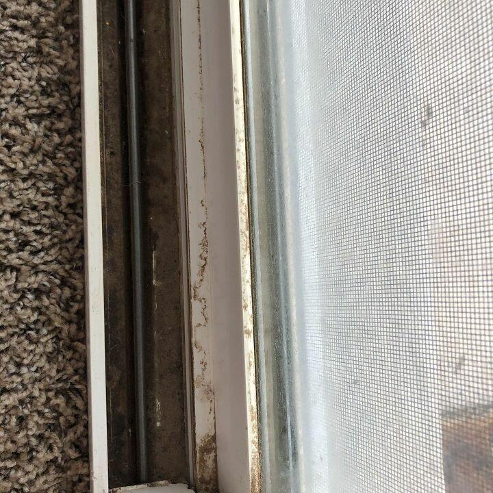 Dirty Patio Door Crevice