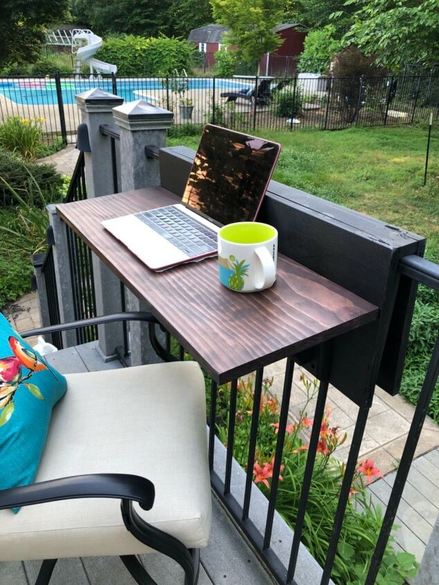 s make your ikea furniture really stand out with these 15 hacks, She lost the hardware for her IKEA shelves so she made this awesome poolside bar