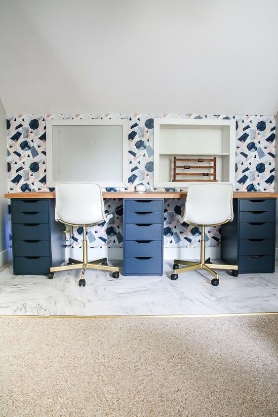 s make your ikea furniture really stand out with these 15 hacks, Spray paint plain IKEA office chairs to get this modern feminine look