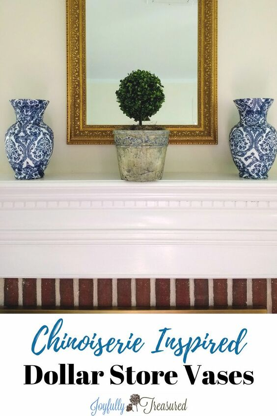 s 25 ways people are rocking the decoupage look in their homes, Napkin decoupage vases