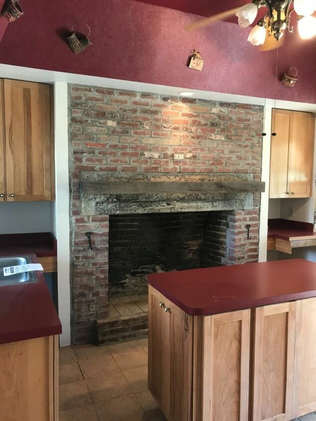 q what to do with old fireplace in kitchen