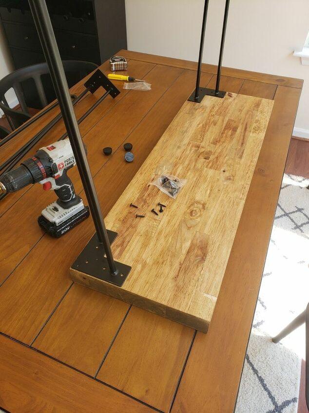 diy entryway hairpin table