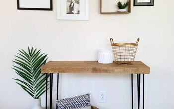 DIY Entryway Hairpin Table