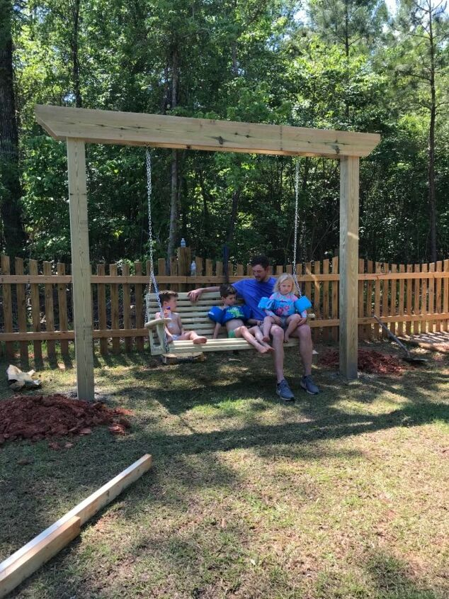dyi backyard swing