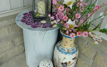Thrift Store Side-Table Re-purposed Into a Planter + Storage