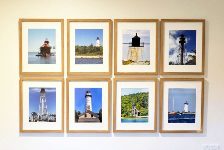 lighthouse gallery wall and tips on installing any gallery wall