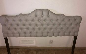 Painted Fabric Headboard  Bright Pink to  Calm Gray