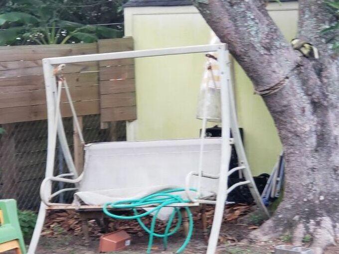 q how do i fix an outdoor swing