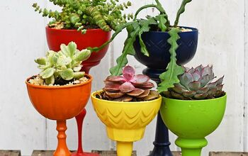 Gorgeous Rainbow Upcycled Succulent Planters
