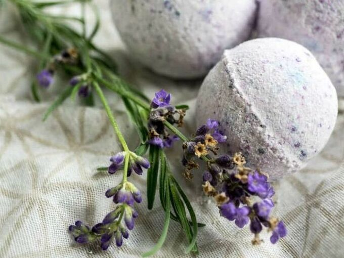 lavender vanilla essential oil bath bombs