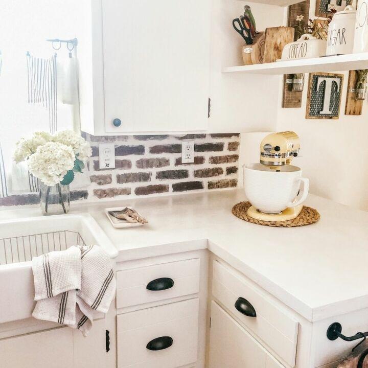 How To Make A Diy Brick Tile Backsplash Hometalk