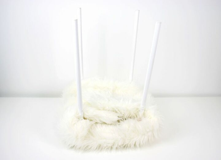diy fuzzy stool without the outrageously high price