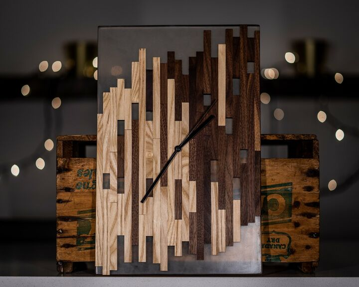 s 18 epoxy resin projects anyone can do so in right now, This stunning wood and resin clock is SO cool