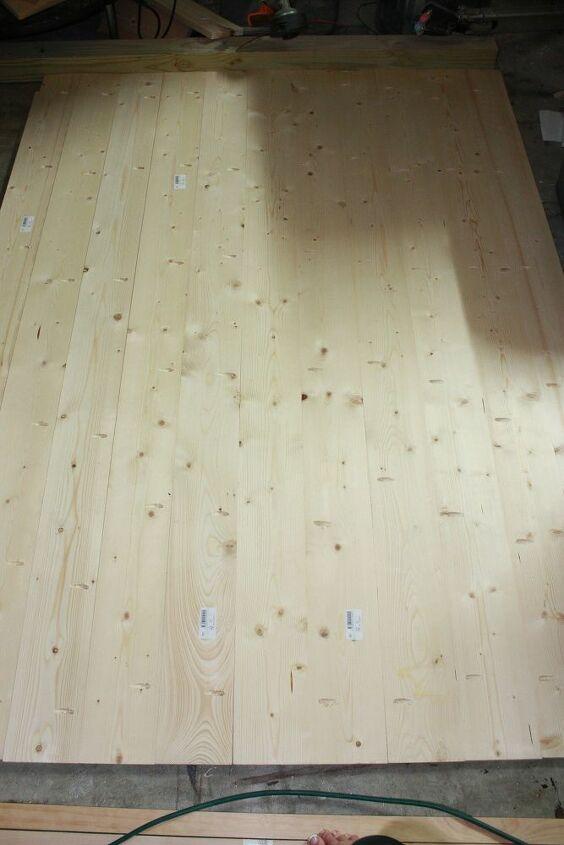 diy faux barndoor room divider