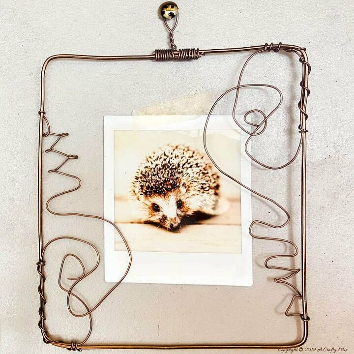 a creative twist to traditional frame