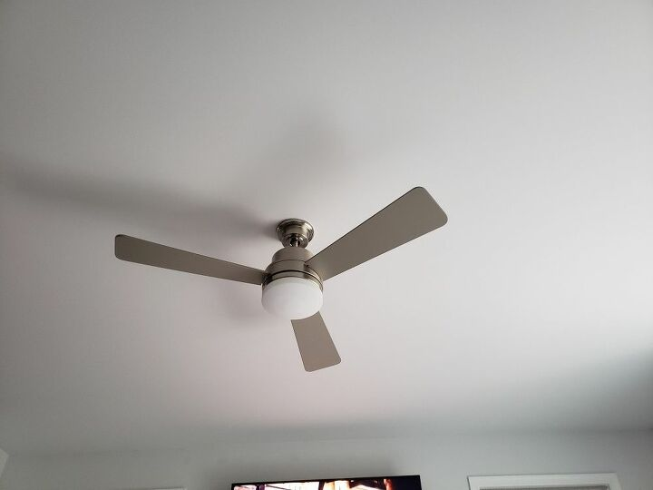 q since it s already hung how can i decorate around this ceiling fan