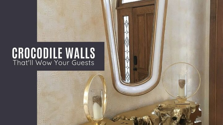 gold crocodile walls your guests will won t stop talking about