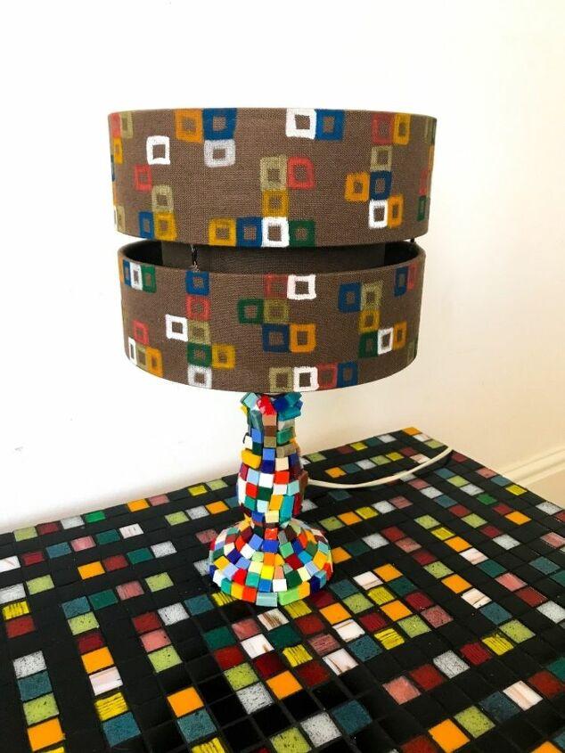 Mosaic lamp base