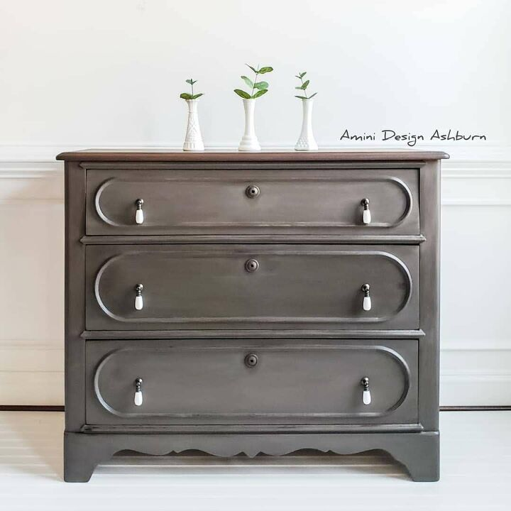 s 21 ways to redo that old dresser you can t stand looking at anymore, Use milk paint to get this look