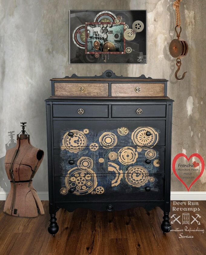 s 21 ways to redo that old dresser you can t stand looking at anymore, A totally unique steam punk dresser