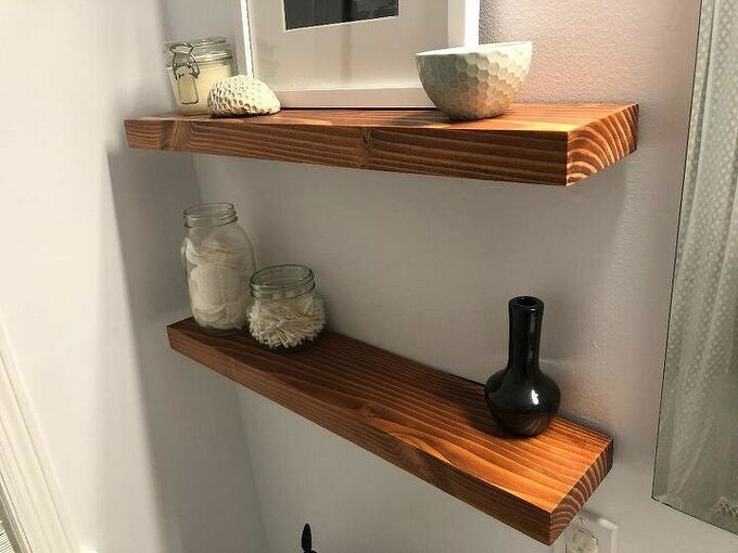 2x12 floating shelves