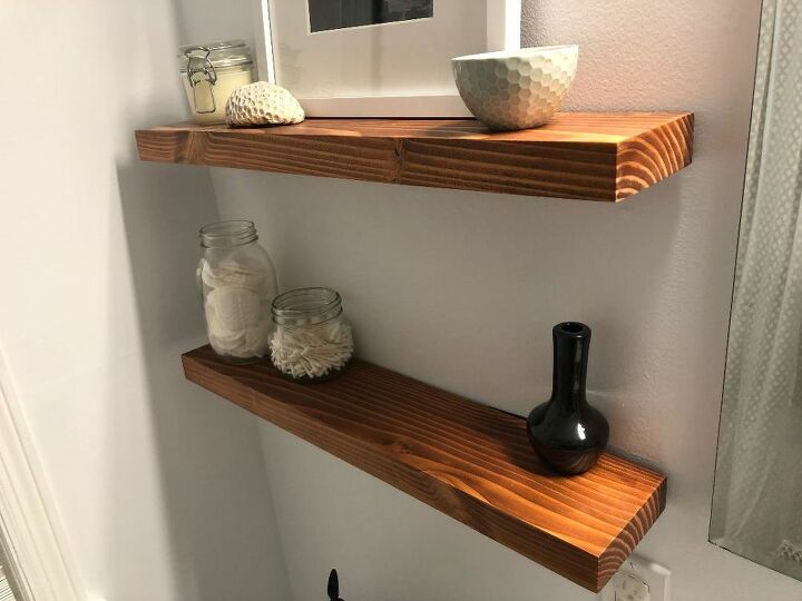 2x12 floating shelves