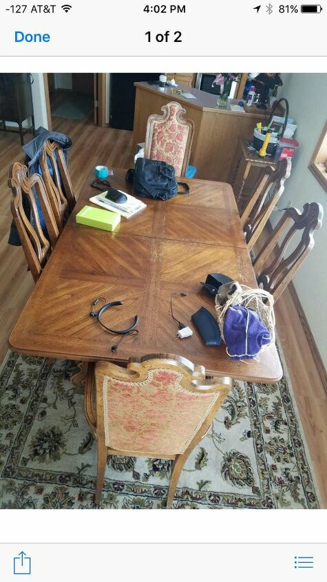 dining table refinish