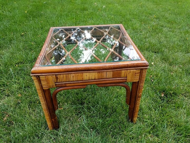 budget friendly lacquered end table